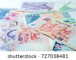 singapore dollar banknotes...   Shutterstock . vector #727038481