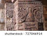 hindu carving on stone pillars... | Shutterstock . vector #727046914