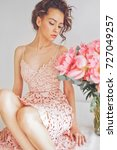 home stylish fashion photo of... | Shutterstock . vector #727049257