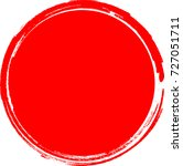 big red grunge circle | Shutterstock .eps vector #727051711