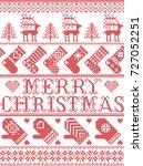 merry christmas scandinavian... | Shutterstock .eps vector #727052251