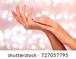 beautiful and healthy female... | Shutterstock . vector #727057795
