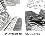 houston. texas. usa. hand drawn.... | Shutterstock .eps vector #727062781
