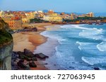 biarritz city and its famous... | Shutterstock . vector #727063945