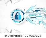 protection concept. protect... | Shutterstock .eps vector #727067329