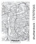 detailed vector poster city map ... | Shutterstock .eps vector #727070161