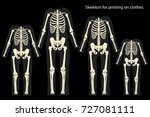 skeleton costume. skeleton for... | Shutterstock .eps vector #727081111