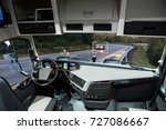 self driving truck with head up ... | Shutterstock . vector #727086667
