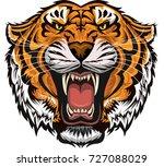 tiger face | Shutterstock . vector #727088029