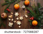 christmas mood tree rope... | Shutterstock . vector #727088287