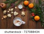 christmas mood tree rope... | Shutterstock . vector #727088434