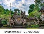 the entrance with split gateway ... | Shutterstock . vector #727090039
