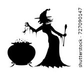 Witch In A Long Black Dress...