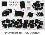 set of realistic vector square... | Shutterstock .eps vector #727090804