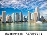 miami skyline skyscrapers ... | Shutterstock . vector #727099141