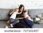 portrait of happy young...   Shutterstock . vector #727101457