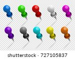set of realistic color metal... | Shutterstock .eps vector #727105837