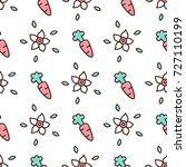 cute seamless pattern with... | Shutterstock .eps vector #727110199