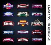 sport emblem typography set.... | Shutterstock .eps vector #727110955