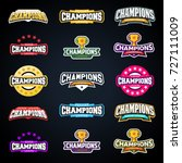 sport champion or champions... | Shutterstock .eps vector #727111009