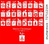 merry christmas. advent...   Shutterstock . vector #727112104