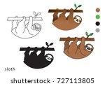 sloth vector icon logo | Shutterstock .eps vector #727113805