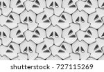 3d wall white panels with... | Shutterstock . vector #727115269