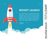 rocket launch background... | Shutterstock .eps vector #727115689