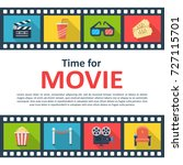 time for movie background... | Shutterstock .eps vector #727115701