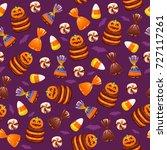 halloween sweets seamless... | Shutterstock .eps vector #727117261