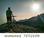 silhouette of young active man... | Shutterstock . vector #727121254