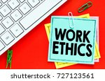 work ethics   notes about work... | Shutterstock . vector #727123561