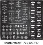 chalk retro graphic line... | Shutterstock .eps vector #727123747