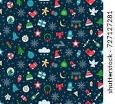 new year and christmas seamless ... | Shutterstock .eps vector #727127281