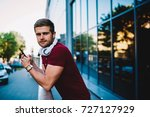 half length portrait of stylish ... | Shutterstock . vector #727127929