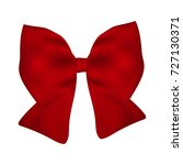 red gift bow of ribbon isolated ... | Shutterstock .eps vector #727130371