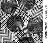 seamless pattern ethnic design. ... | Shutterstock . vector #727133941