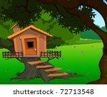 bamboo tree house | Shutterstock . vector #72713548