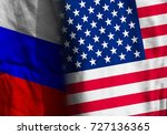 two flags. diagonal. the united ... | Shutterstock . vector #727136365