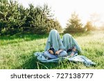 two brothers in the nature | Shutterstock . vector #727138777