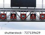 digital road signs. speed limit ... | Shutterstock . vector #727139629