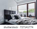 modern bedroom with double bed  ... | Shutterstock . vector #727141774