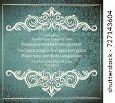 vintage card with elegant... | Shutterstock .eps vector #727143604