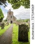 Stock photo st cuthbert s church bewcastle cumbria england site of the th century bewcastle anglo saxon 727144069