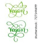 set of vegan word on white... | Shutterstock .eps vector #727144699