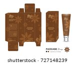 cosmetic packaging template... | Shutterstock .eps vector #727148239