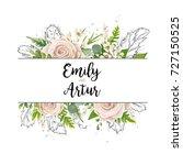 vector floral card art wedding...   Shutterstock .eps vector #727150525