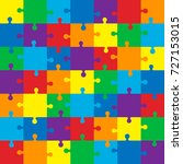 jigsaw puzzle.colorful vector... | Shutterstock .eps vector #727153015