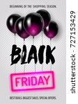black friday poster with hand... | Shutterstock .eps vector #727153429