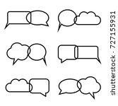 group of empty white speech... | Shutterstock .eps vector #727155931